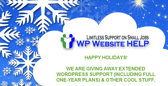 We are Giving Away Extended WordPress Support