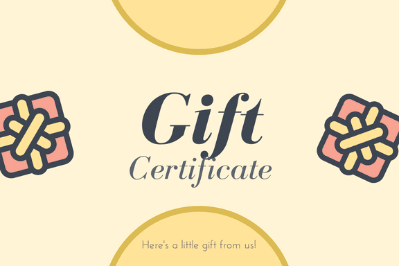 Great Gift Certificate Holiday Offers (50-60% OFF). Hurry. Limited.